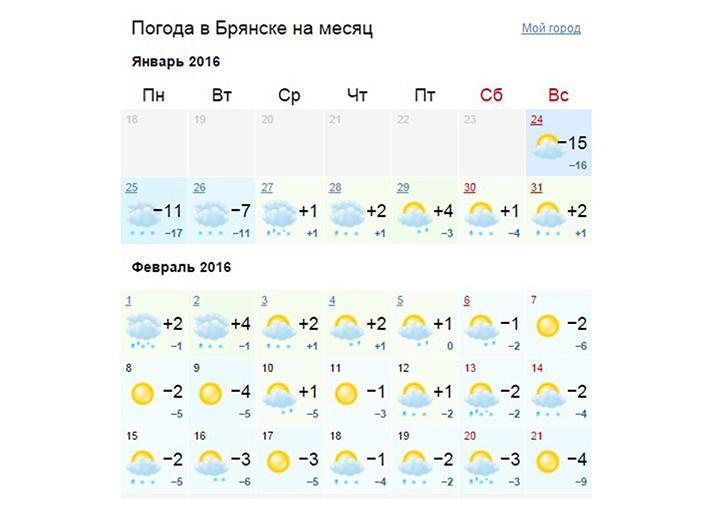 Брянск погода на сегодня днем
