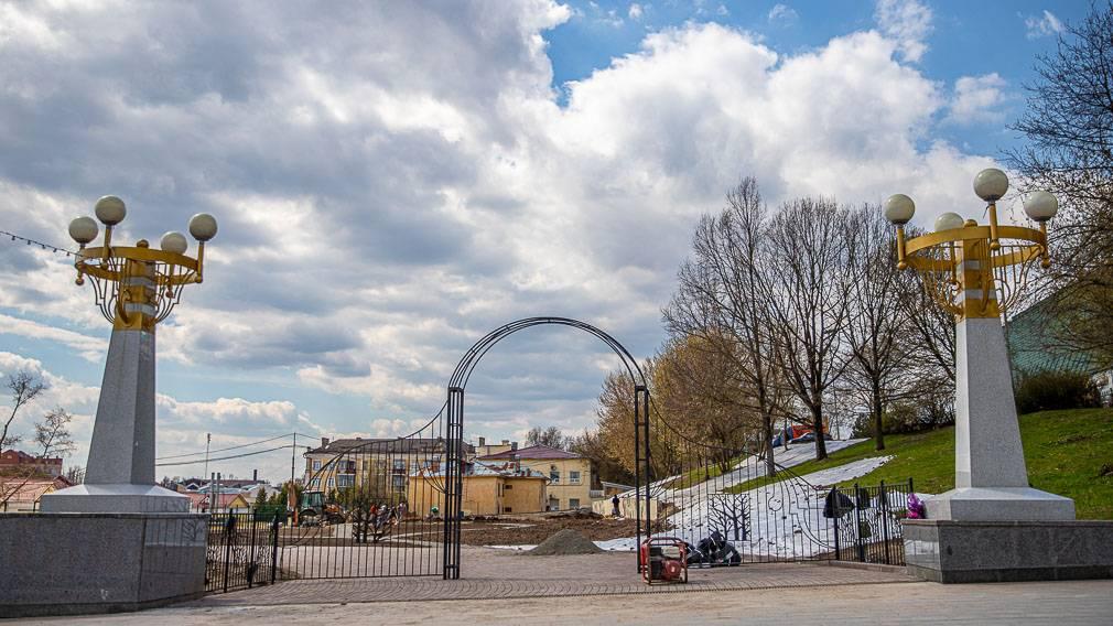 В Брянске обустраивают территорию для будущего городского сада