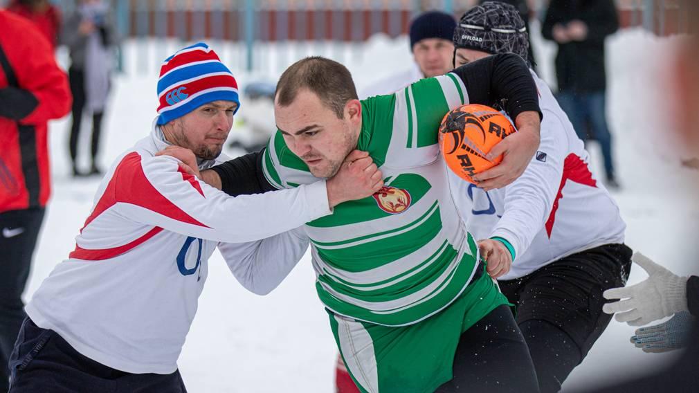В Брянской области прошёл межрегиональный турнир по регби на снегу